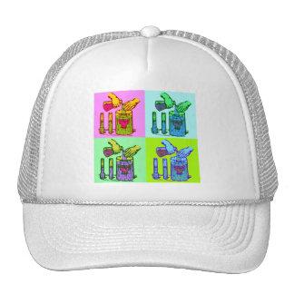 Chemistry Displacement Pop Art Mesh Hat