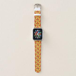 Chemistry Geek Orange Methane Molecule Pattern Apple Watch Band