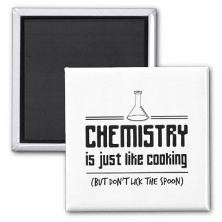 Chemistry Is Cooking Square Magnet