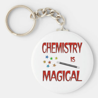 Chemistry is Magical Basic Round Button Key Ring