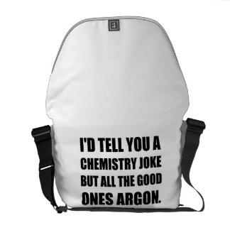 Chemistry Joke Good Ones Argon Commuter Bag