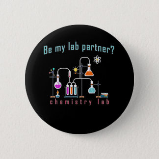 Chemistry lab 6 cm round badge