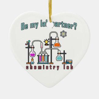 Chemistry lab ceramic ornament