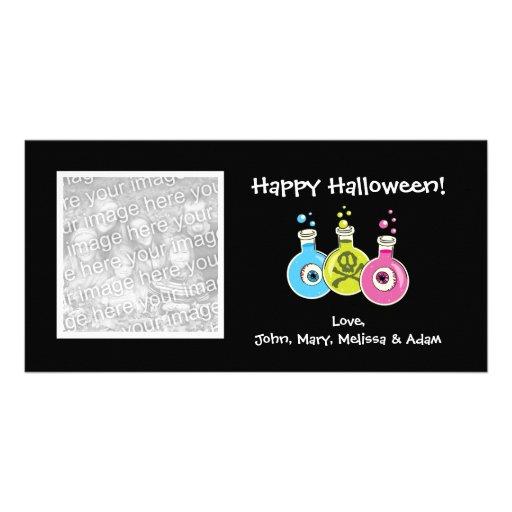 Chemistry Lab Halloween Photo Cards