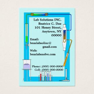 CHEMISTRY LAB TEST TUBES BEAKER BUSINESS CARDS