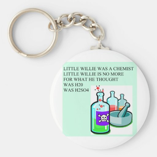 chemistry little willie rhyme basic round button key ring