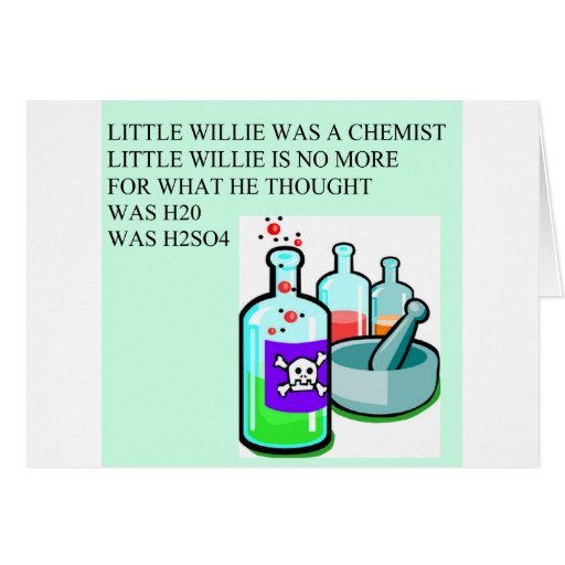 chemistry little willie rhyme cards