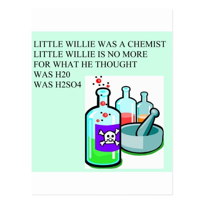 chemistry little willie rhyme postcard