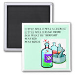 chemistry little willie rhyme square magnet