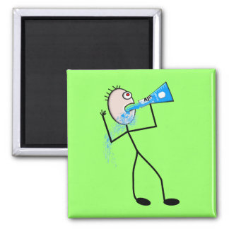 Chemistry Major Funny Stick Man Gifts Square Magnet