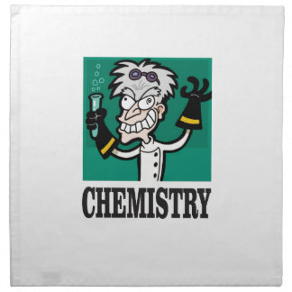 chemistry man in coat napkin