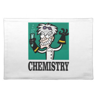 chemistry man in coat placemat
