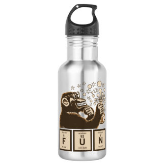 Chemistry monkey discovered fun 532 ml water bottle