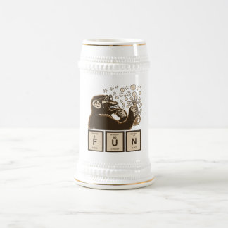 Chemistry monkey discovered fun beer stein