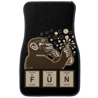 Chemistry monkey discovered fun car mat