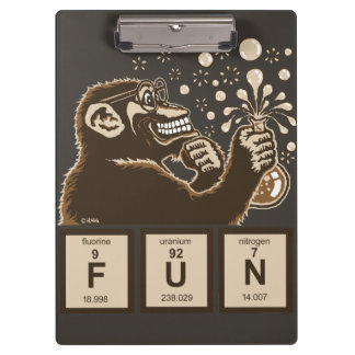 Chemistry monkey discovered fun clipboard