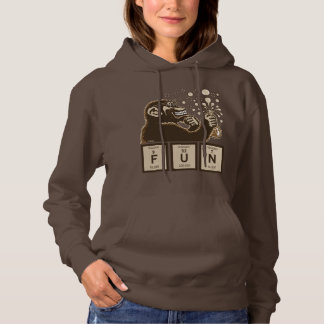 Chemistry monkey discovered fun hoodie