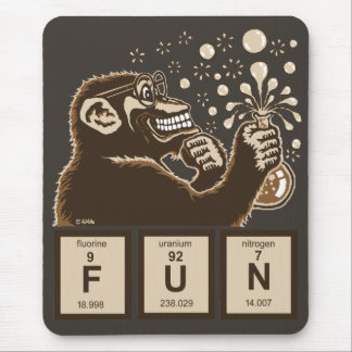 Chemistry monkey discovered fun mouse pad