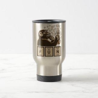 Chemistry monkey discovered fun travel mug