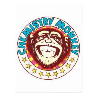 Chemistry Monkey Postcard