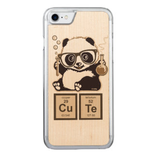 Chemistry panda discovered cute carved iPhone 7 case