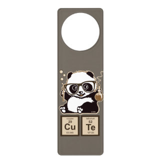 Chemistry panda discovered cute door hanger