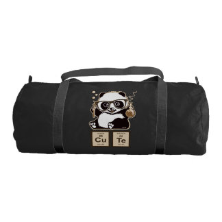 Chemistry panda discovered cute gym bag
