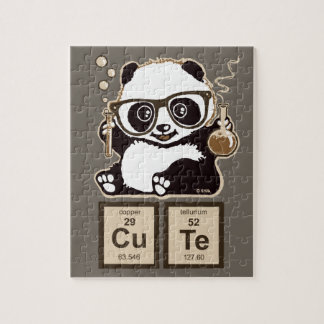 Chemistry panda discovered cute jigsaw puzzle