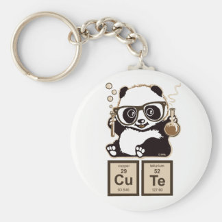 Chemistry panda discovered cute key ring