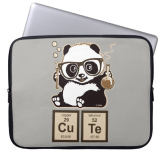 Chemistry panda discovered cute laptop sleeve