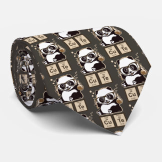 Chemistry panda discovered cute tie