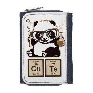 Chemistry panda discovered cute wallets