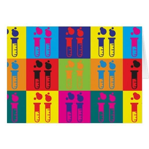 Chemistry Pop Art Greeting Cards