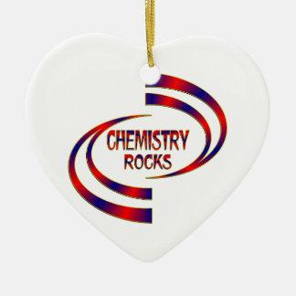 Chemistry Rocks Ceramic Heart Decoration