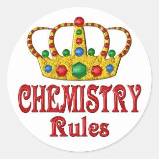 CHEMISTRY Rules Round Sticker