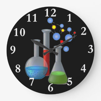 Chemistry Science Round Wall Clock