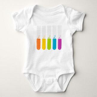 Chemistry Science Test Tubes Baby Bodysuit