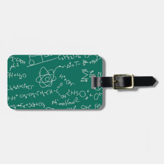 Chemistry scribbles luggage tag