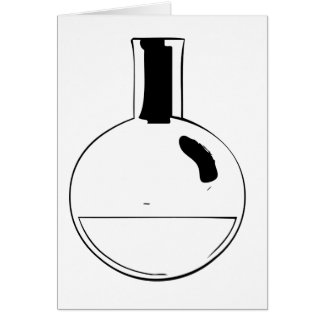 chemistry set round flask greeting card