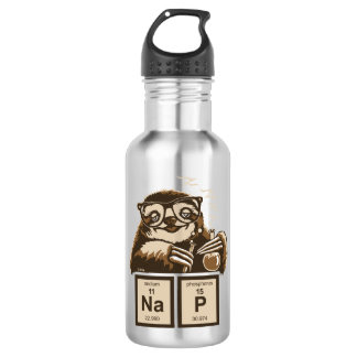Chemistry sloth discovered nap 532 ml water bottle