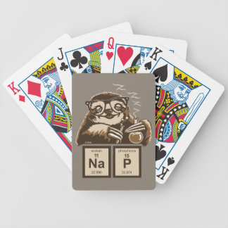 Chemistry sloth discovered nap bicycle playing cards