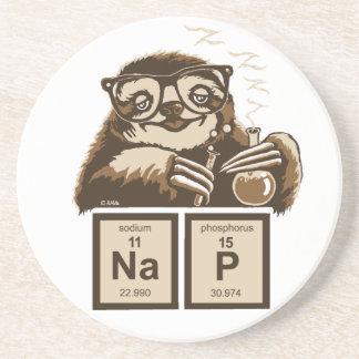Chemistry sloth discovered nap coaster