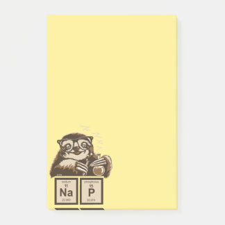 Chemistry sloth discovered nap post-it notes