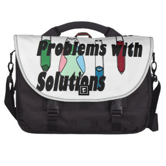 Chemistry Solutions Chemists Mad Scientists Laptop Bag