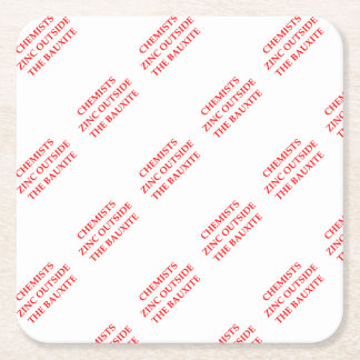 chemistry square paper coaster