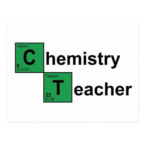 Chemistry Teacher black Post Card