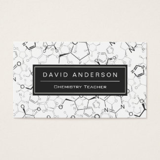 Chemistry Teacher Stylish Chemical Formula Pattern Business Card