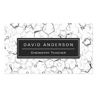 Chemistry Teacher Stylish Chemical Formula Pattern Pack Of Standard Business Cards