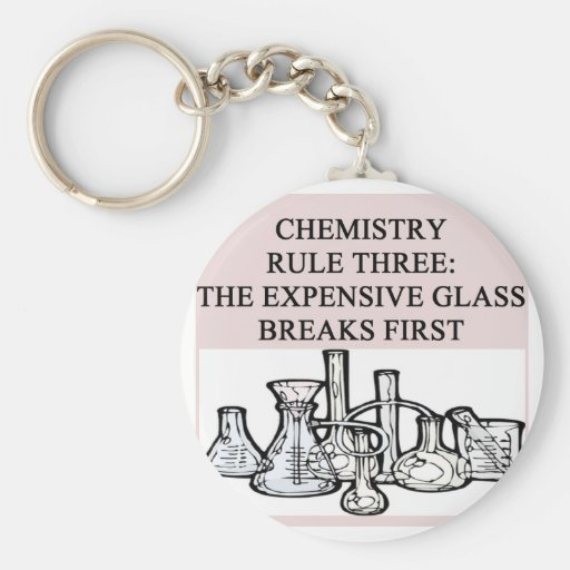 chemistry: the epensive glass breaks first keychains