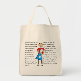 """Chemistry """"The Giant Beeker"""" Guy Hilarious Canvas Bags"""